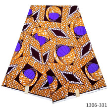 New African Fabric nigeria java Wax Print 6 Yards/Piece Batik Ankara fabric Nigeria For Wedding 1306-33