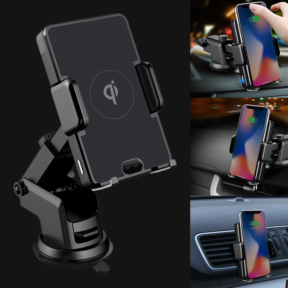 QI Infrared Sensor Wireless Charger Car Air Vent Phone Holder for iPhone X 8 Plus Samsung Aromatherapy Air Freshener PurifierQI Infrared Sensor Wireless Charger Car Air Vent Phone Holder for iPhone X 8 Plus Samsung Aromatherapy Air Freshener Purifier