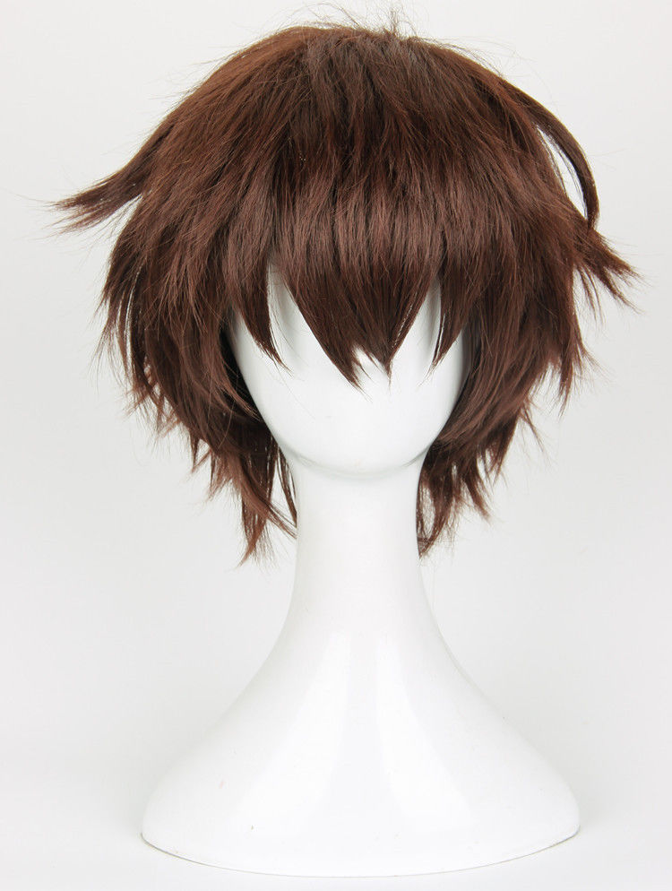 Anime Seraph of the end Yoichi Saotome Wig Styled Short Brown Synthetic Hair Cosplay Wig + Wig Cap