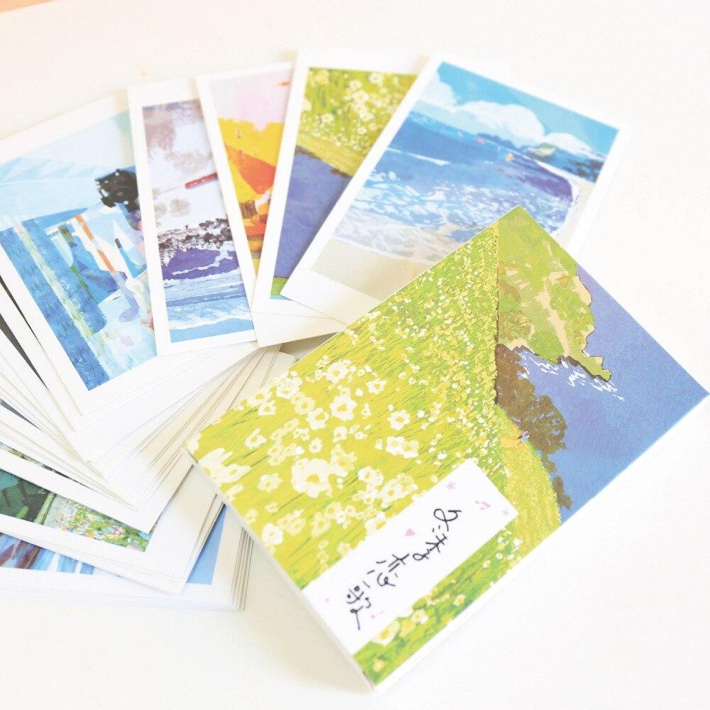 30 Sheets/Set Novelty Winter Sonata Series Postcard Greeting Card Message Card Birthday Gift Card