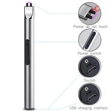 BBQ จุดระเบิด ARC USB ไฟแช็กชาร์จอิเล็กทรอนิกส์บุหรี่พลาสม่า Palse PULSE แก๊สเตา Thunder ไฟแช็ก