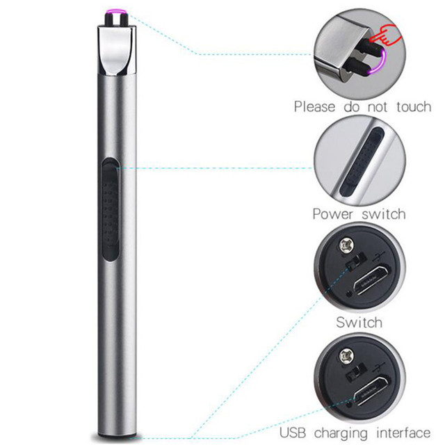 BBQ Ignition Arc USB Lighter Rechargeable Electronic Kitchen Lighter Cigarette Plasma Palse Pulse Gas stoves Thunder Lighter
