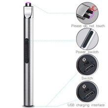 Briquet électronique pour barbecue, Rechargeable par USB, allume cigare à Plasma, four à gaz pulsé, briquet à gaz
