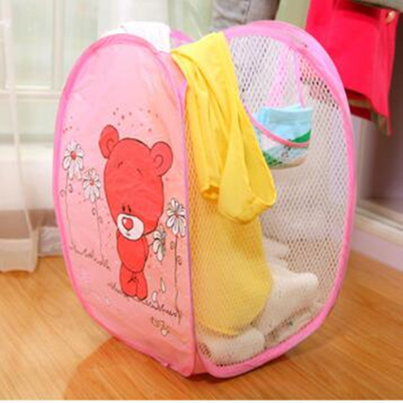 Cute Animal Collapsible Toy Storage Organizer Folding: 2018 Cartoon Toy Container Toy Storage Box Folding Bucket