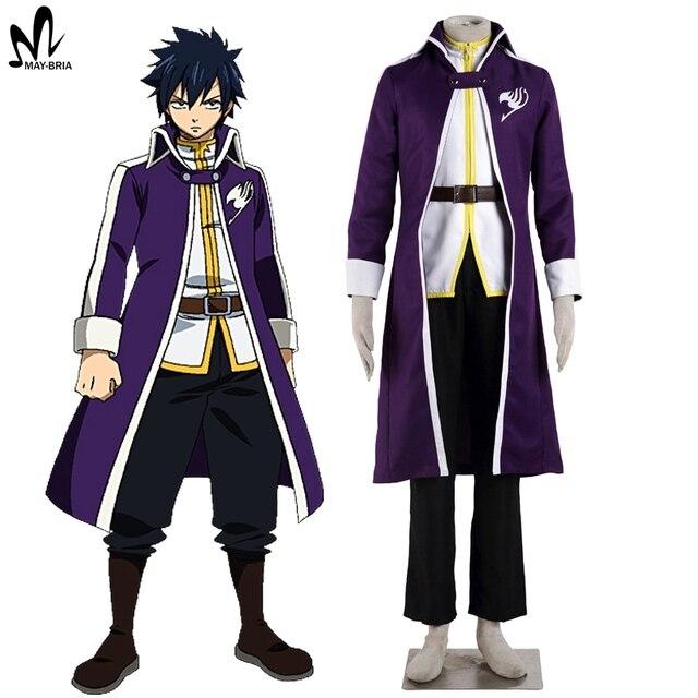 Hot Anime Fairy Tail Gray Fullbuster Cosplay Halloween Kostume Erwachsene Manner Grau Kostum