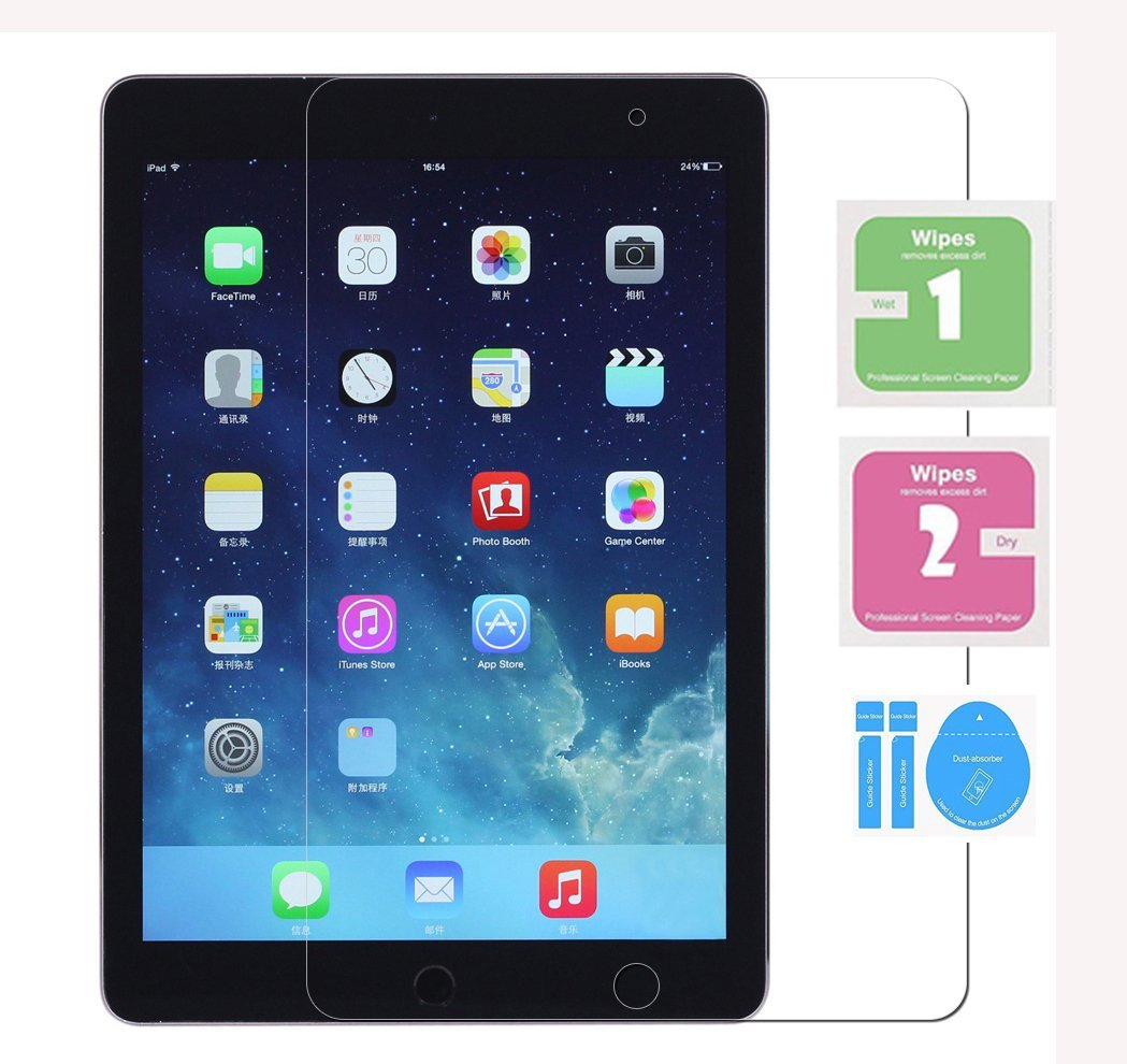 For New iPad 9.7 2017 Screen Protector, Tempered Glass Film for Apple iPad Air 1 2 Protective film for iPad 9.7 Film Guard Cover(China (Mainland))
