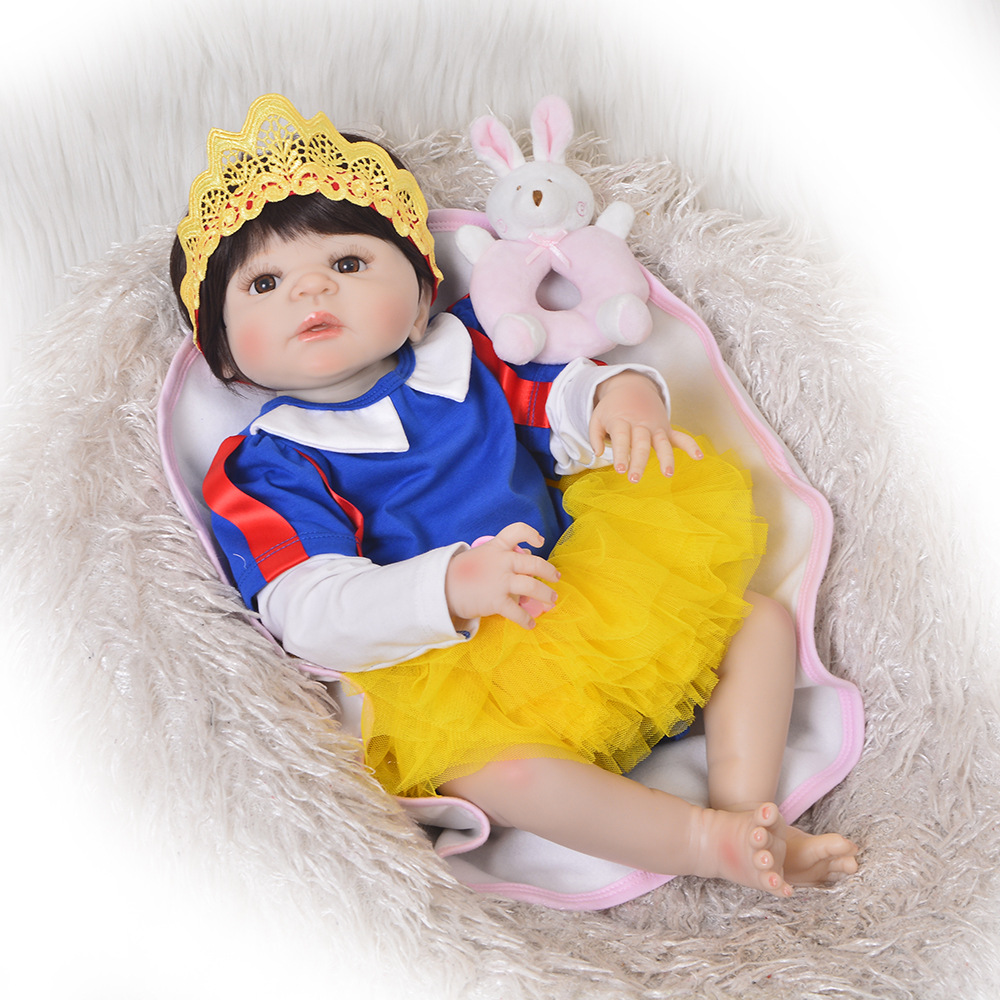 23 57 cm Reborn Baby Doll Full Body Silicone newborn real touch realistic girl tutu dress handmade Doll Childrens Day toys23 57 cm Reborn Baby Doll Full Body Silicone newborn real touch realistic girl tutu dress handmade Doll Childrens Day toys