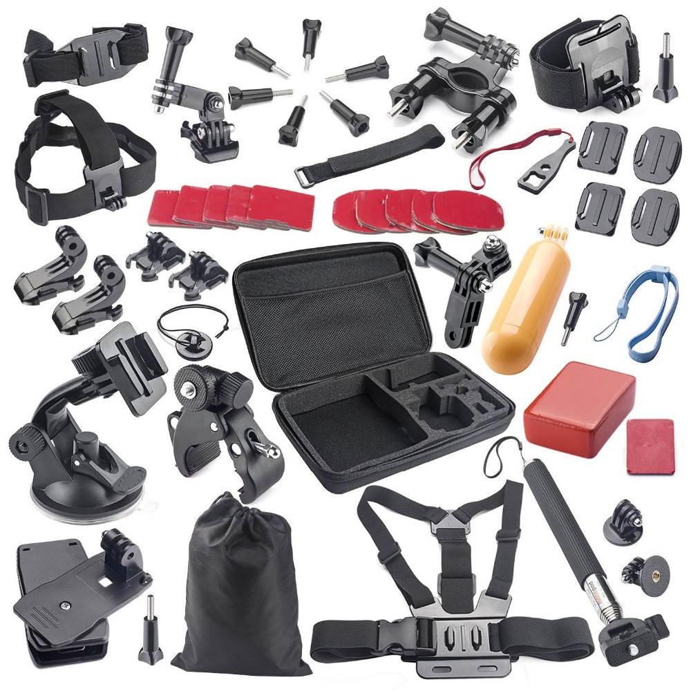 44 in 1 accessory kit for gopro hero4 session gopro case. Black Bedroom Furniture Sets. Home Design Ideas