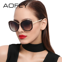 AOFLY Brand Design Sun Glasses For Women Butterfly Sunglasses Elegant Luxury Style Decoration Shades Female Gafas