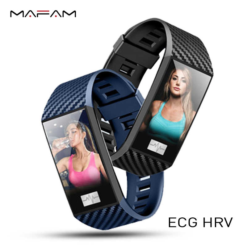 MAFAM ECG HRV Smart Watch DT58 Heart Rate Blood Pressure Monitor  Fitness Tracker Band Sport IP68 Waterproof For Android IOS