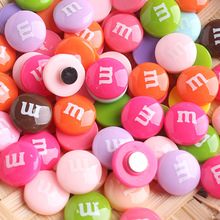 5pcs Creative Cartoon Chocolate Beans Fridge Sticker Refrigerators Magnetic Message Resin Craft Decorations