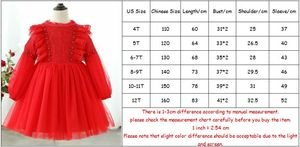 Image 5 - Girl Dress 2020 Spring Lantern Sleeve Kids Princess Birthday Party Dress Children Clothes with Pearls 4 12Y