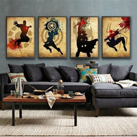 2016 Newest 4 Piece Wall Art Decor The Picture Modern Abstract Oil Painting On Canvas Movie