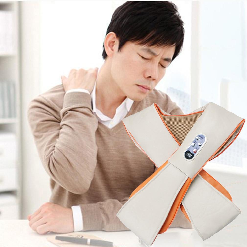 цена на Multifunction Health Care U Shape Electrical Tapping Massager Neck Shoulder Waist Back Neck Massager Household Hot Selling