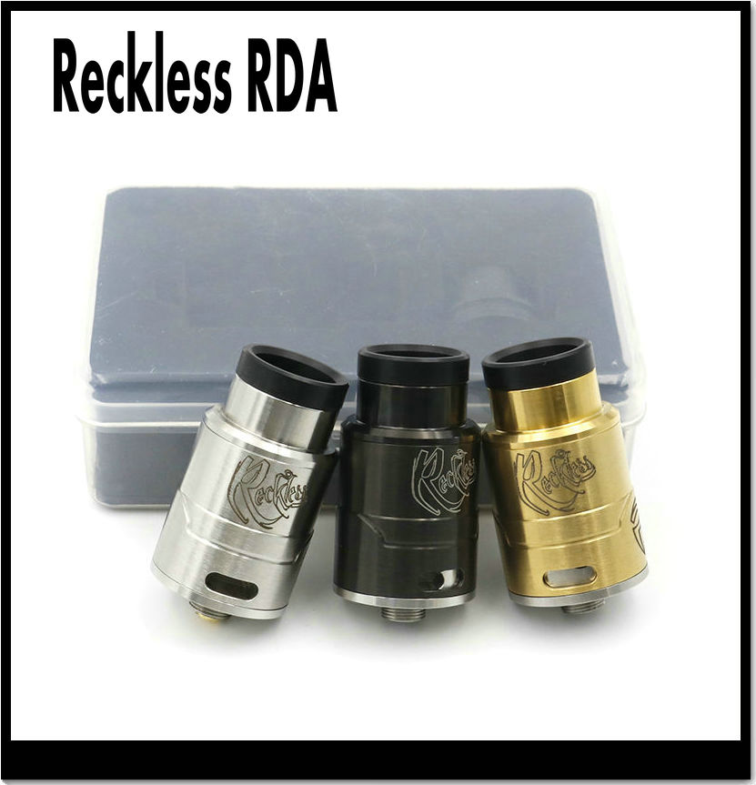Electronic Cigarette Reckless RDA Atomizer With Replaceable Drip Tip Vaporizer Fit 510 Box Mod
