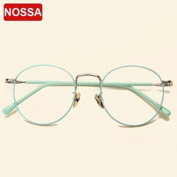 0321d1ce3b Montura de gafas redondas Vintage elegantes gafas de Metal para hombres y mujeres  montura de gafas de moda transparente gafas ópticas de moda