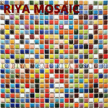 Free Shipping RIYA Ceramic mosaic tile Candy color Swimming pool Red green Blue bathroom waistline Bar counter Floor 11pcs/lot