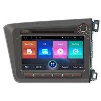 Navirider Android 7.1 car radio tape recorder quad Core 2GB RAM 32GB rom for Honda CIVIC 2012 2014 RHD head units multimedia