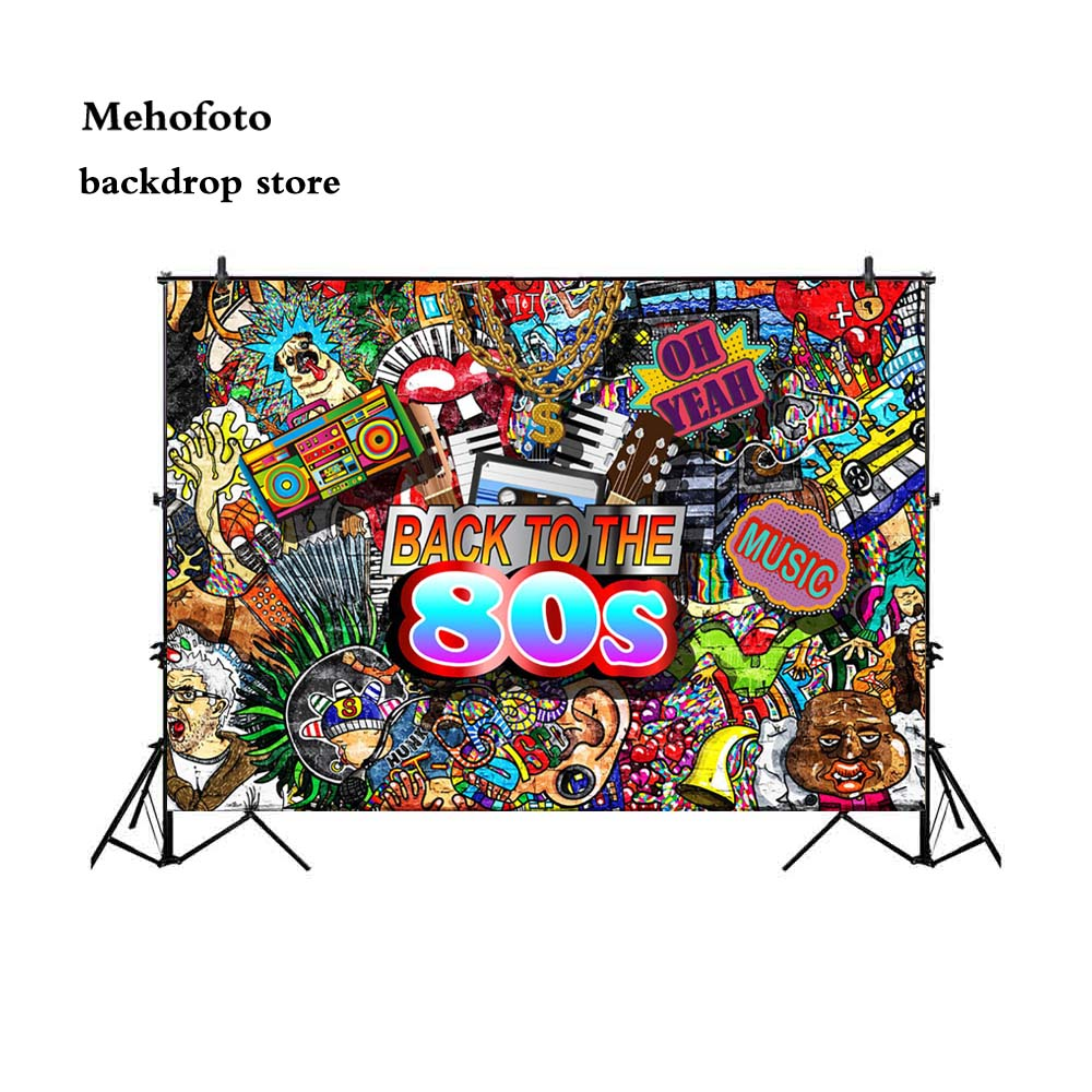 Buy Mehofoto 90S Vintage Background Graffiti Photo Backdrop 80S Back To Time For Photographers Booth Studio