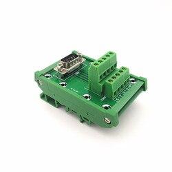 D-SUB DB9 moduł interfejsu do montażu na szynie DIN męski nagłówek tabliczka zaciskowa  blok zacisków  złącze.