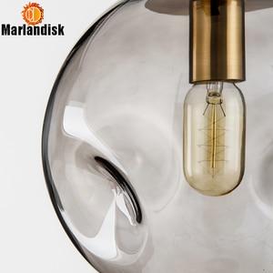 Image 5 - Modern Style Uneven Glass Ball Amber/Grey Graceful Pendant Light E27 Lighting For Dining Room Living Room Showroom Sitting Room