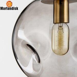 Image 5 - Moderne Stijl Ongelijke Glas Bal Amber/Grijs Graceful Hanglamp E27 Verlichting Voor Eetkamer Woonkamer Showroom Zitten kamer