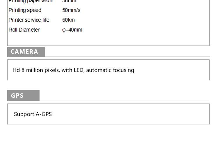 android pos barcode scanner móvel pda com impressora embutida