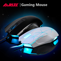 Ajazz 2400 DPI LED מפתח 8 מכאני עכבר משחקים e-sport עכברים Wired עבור מחשב נייד מחשב שולחני מחשב גיימר עכבר לתכנות