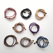 eyewear round PU leather sewing cord sunglass lanyard string spectacle retainer snake chain holder