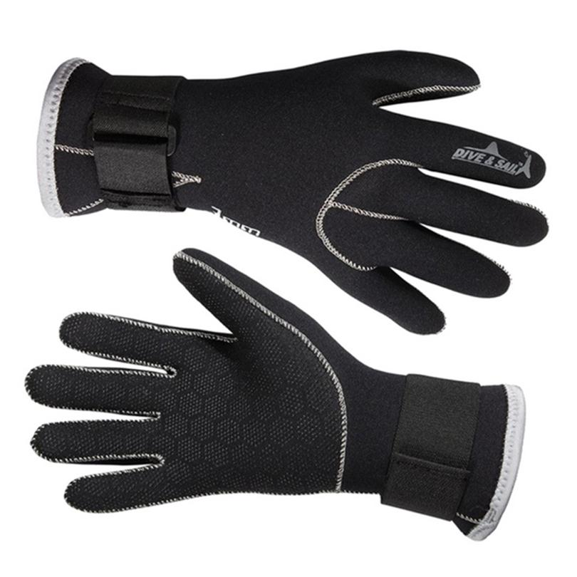 3MM Neoprene Swimming Gloves Swim Gloves Snorkeling Equipment Anti Scratch Keep Warm Wetsuit Material Winter Swim Spearfishing
