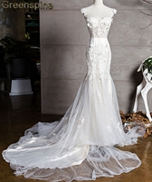 Greenspine Hi End 2018 New Fashion Hot Sale Mermaid Gown Wedding Dress Bridal Gown Custom Made