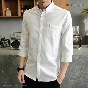 Image 5 - Mens Tuxedo Shirt Three Quarter Formal Business Social Slim Fit Long Sleeve Casual Button Down Anti wrinkle Dress Shirts