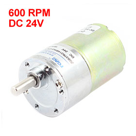 UXCELL Hot Sale 1 Pcs DC 24V 37mm Dia Permanent Magnetic Planet Gear Box Motor 600 RPM цена
