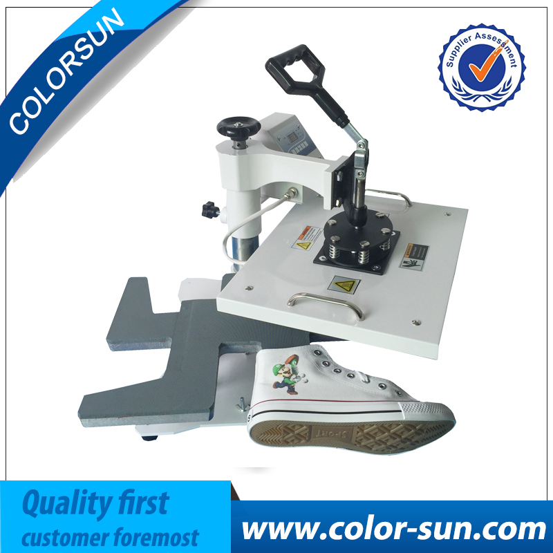 High quality 110V-220V heat press machine for shoes Heat Transfer Press Machine with digital control for DIY logo on shoes cheap manual swing away heat press machine for flatbed print 38 38cm