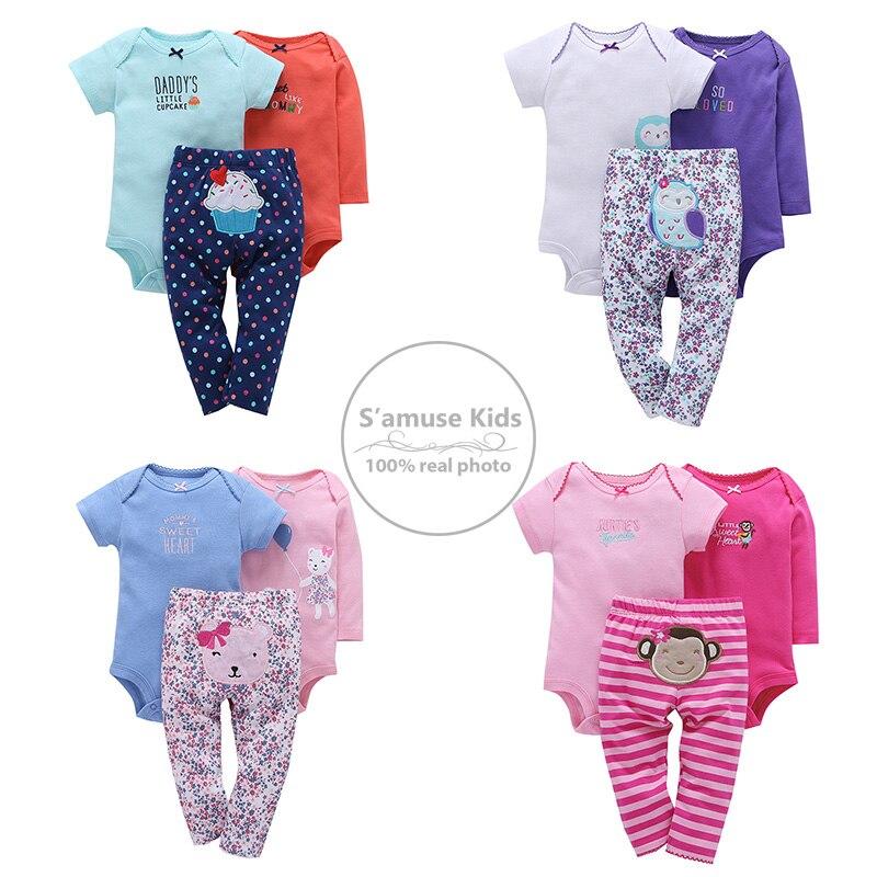 c25458218 3pcs set Newborn Baby Girl Clothes Bodysuit Pants Cardigan Wear Suit ...