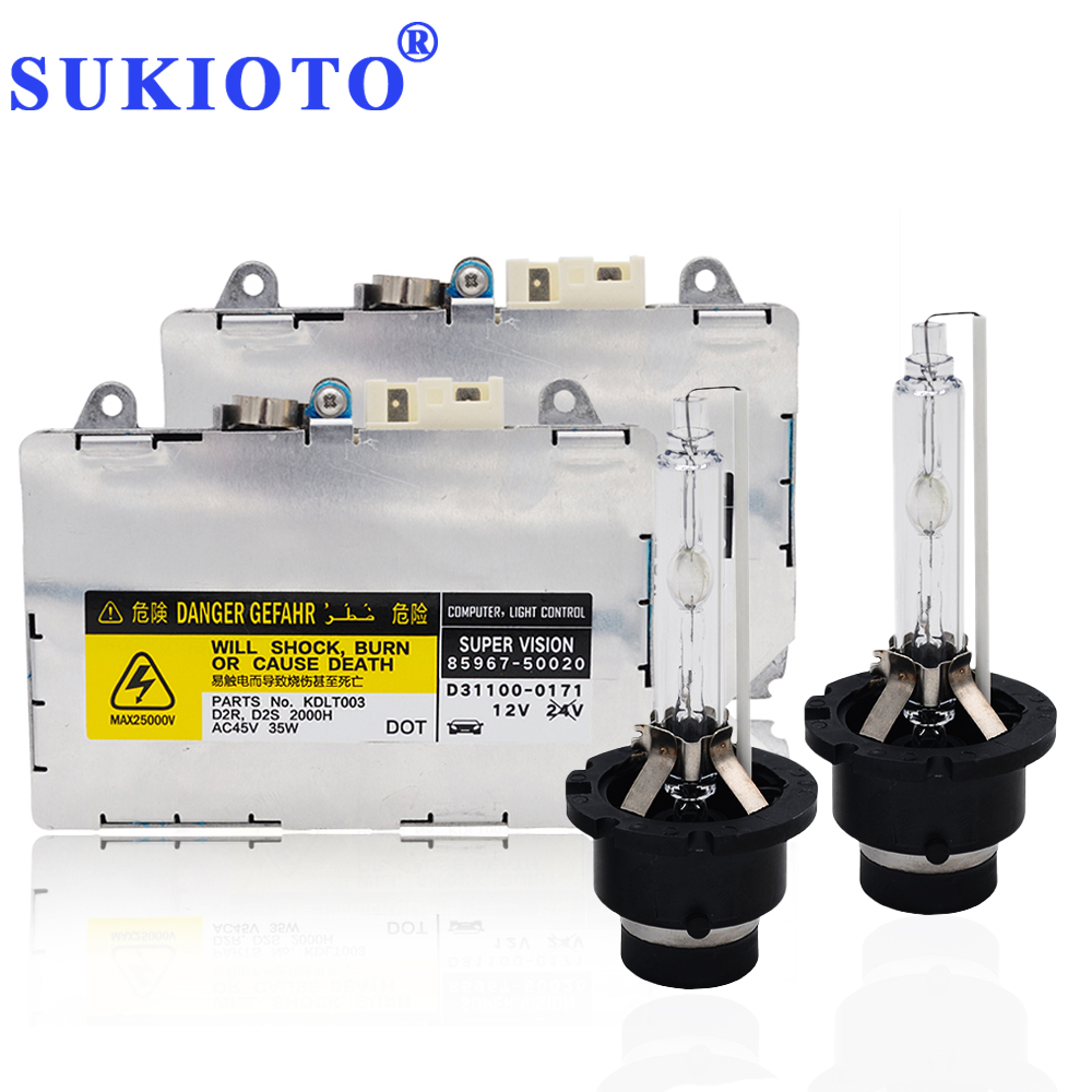 SUKIOTO Original Xenon Kit D2S D2R Ballast HID Kit 5500K For Part No. D85967-30050 84965AG010 84965AE020 D2S D2R Xenon Ballast free shipping hid xenon d2 high quality ballast 1pc power conversion ballast head light d2s d2c d2r of car light source