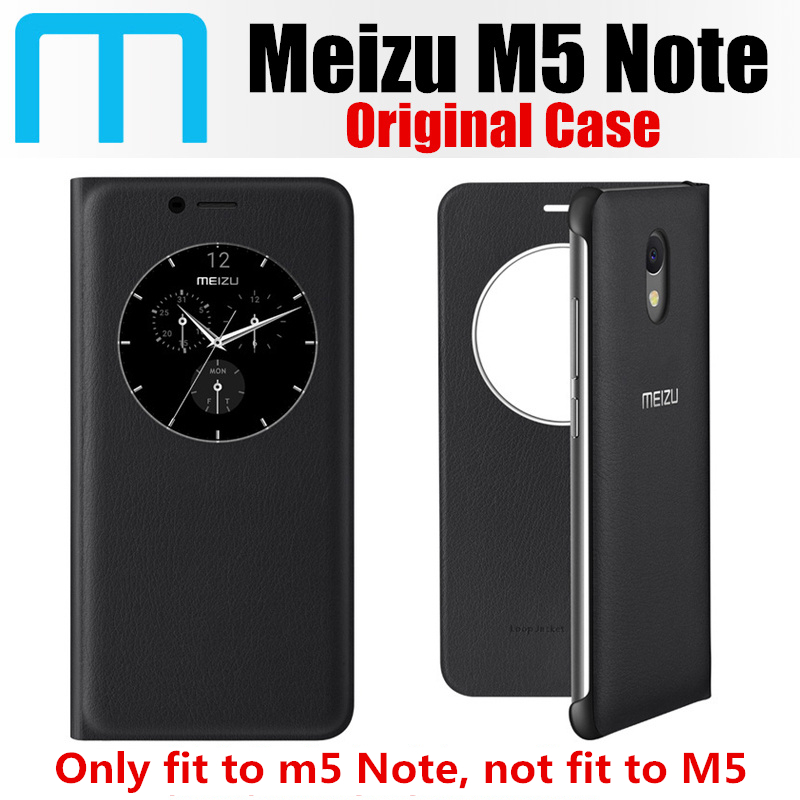imágenes para M5 caso nota original 100% de empresa meizu meizu del sueño/vigilia inteligente la cubierta del tirón para meizu m3 nota sobre la base de 5.5 pulgadas