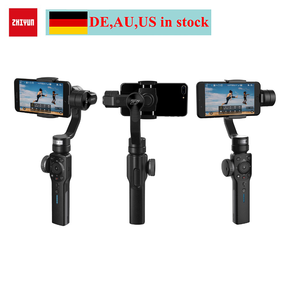 (can ship from Germany,AU,US) Zhiyun Smooth 4 3-Axis Handheld Gimbal Stabilizer w/ Mic for iPhone X 8 7 Plus 6 Samsung S8+ S8 S7 hospital cleaner disinfectant towels 6 3 4 x 8 150 can 8 canisters carton