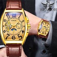 d9ed213badb Relogio masculino Homens Relógio SEWOR Turbilhão Mecânico Automático  Esporte Masculino Relógio Marca de Topo de Luxo Homem Relóg.