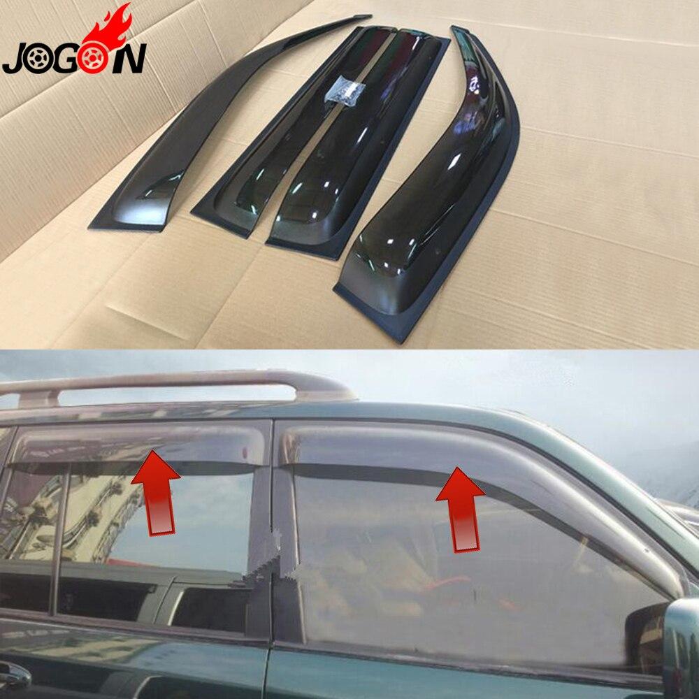 Populair Merk Voor Toyota Land Cruiser Lc100 Fj100 2003-2007 Venster Zon Regen Vizieren Vent Shade Deflector Guard Weer Schild 4 Stks Gediversifieerd In Verpakkingen