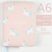 Cartoon Unicorn A6 Notebook Diary