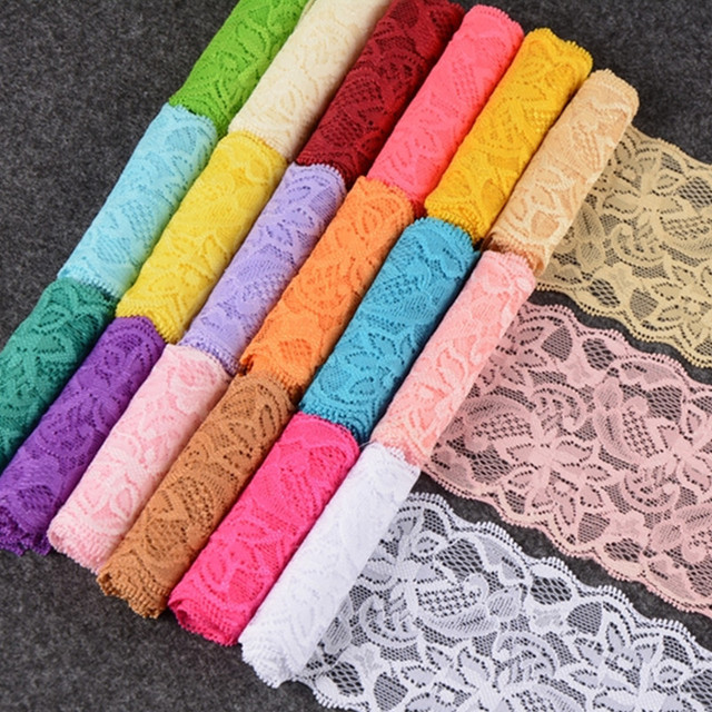 Buy 8cm width stretch lace trim ribbon for Bulk sewing material