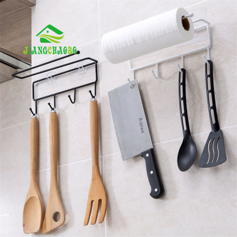 JiangChaoBo Cabinets Iron Paste Racks Kitchen Towel Rack Kitchenware Hook Cabinet Finishing Rack Storage Rack
