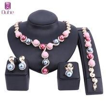 Винтажное женское колье для девочек массивное ожерелье с искусственным