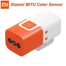 Датчик цвета Xiaomi MITU для строительных блоков Mitu DIY робот оранжевый белый цвет Xiaomi умный дом Бесплатная доставка