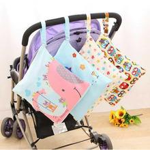 1pcs Waterproof Baby Diaper Bags Printed Double Zipper Wet/Dry Bag Wet Cloth Diaper Backpack Reusabl