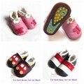 Por menor hechos a mano de lana caliente de cuero primeros caminante para niño niña niños de calzado recién nacido infantil Bebes productos