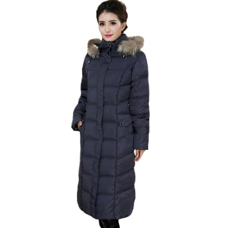 Winter Coat Women Fur Hooded Long Jacket Women Cotton Padded Thicken Warm Female Coat Large Plus size 5XL Long Parkas RE0099 серьги