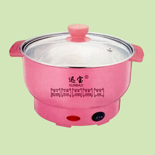 2016 newest mini electric food steamer with Pink/yellow EU plug Steam/Boil/Heat food Auto-off Small kitchen appliances 220v