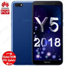 5.45 inç Huawei Y5 prime 2018 honor 7 play Küresel ROM Android 8.1 Smartphone Dört Çekirdekli 13.0MP Kamera 2 GB 16 GB çift SIM ...